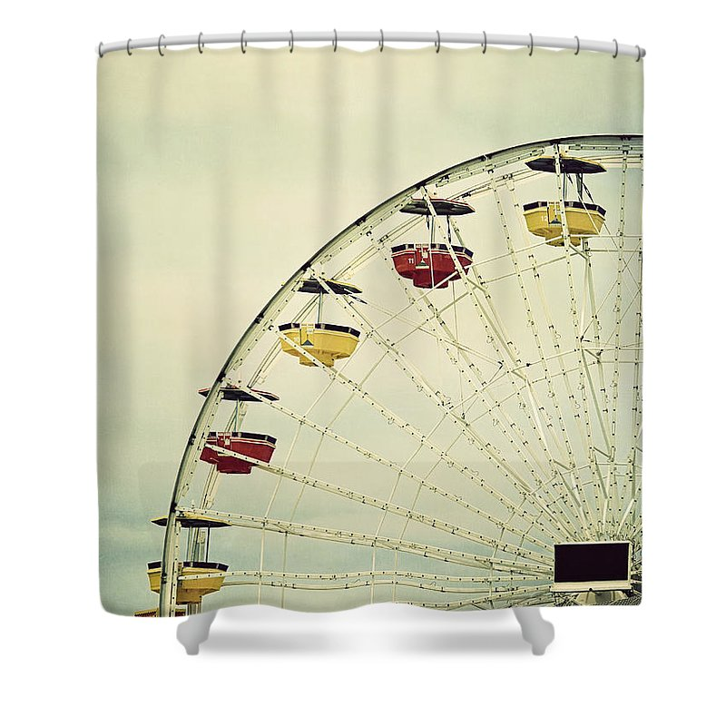 Ferris Wheel Shower Curtain featuring the photograph Vintage Ferris Wheel by Kim Hojnacki