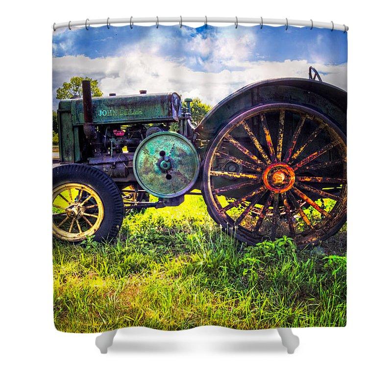 Vintage John Deere Shower Curtain For Sale By Debra And Dave Vanderlaan
