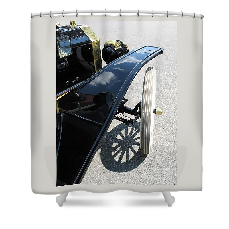Model T Shower Curtain featuring the photograph Vintage Model T by Ann Horn