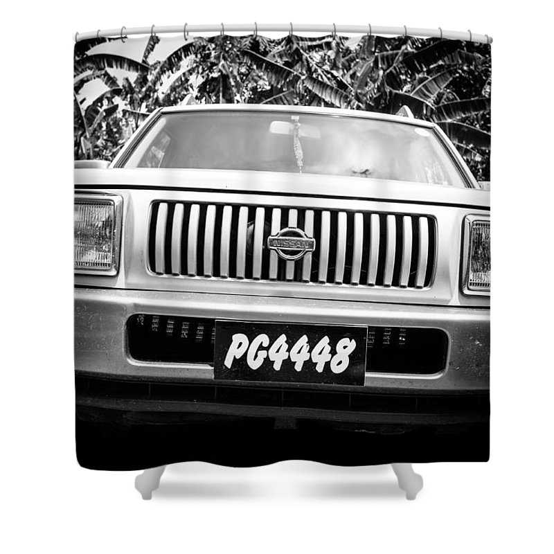 Saint Lucia Shower Curtain featuring the photograph Vintage Nissan by Ferry Zievinger