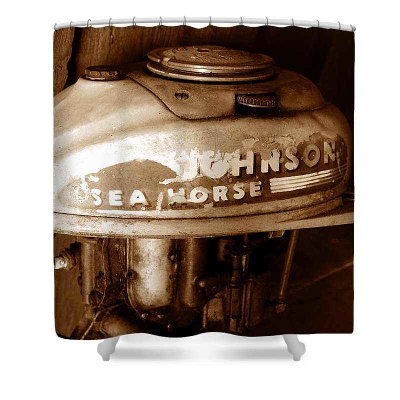 Johnson Sea Horse Shower Curtain featuring the photograph Vintage Sea Horse by David Lee Thompson