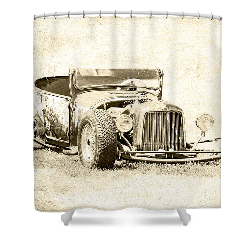 Rust Shower Curtain Featuring The Photograph Vintage T Bucket Ford By Steve McKinzie