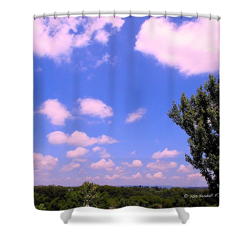 Clouds Shower Curtain featuring the photograph Violet Edge by Kendall Kessler