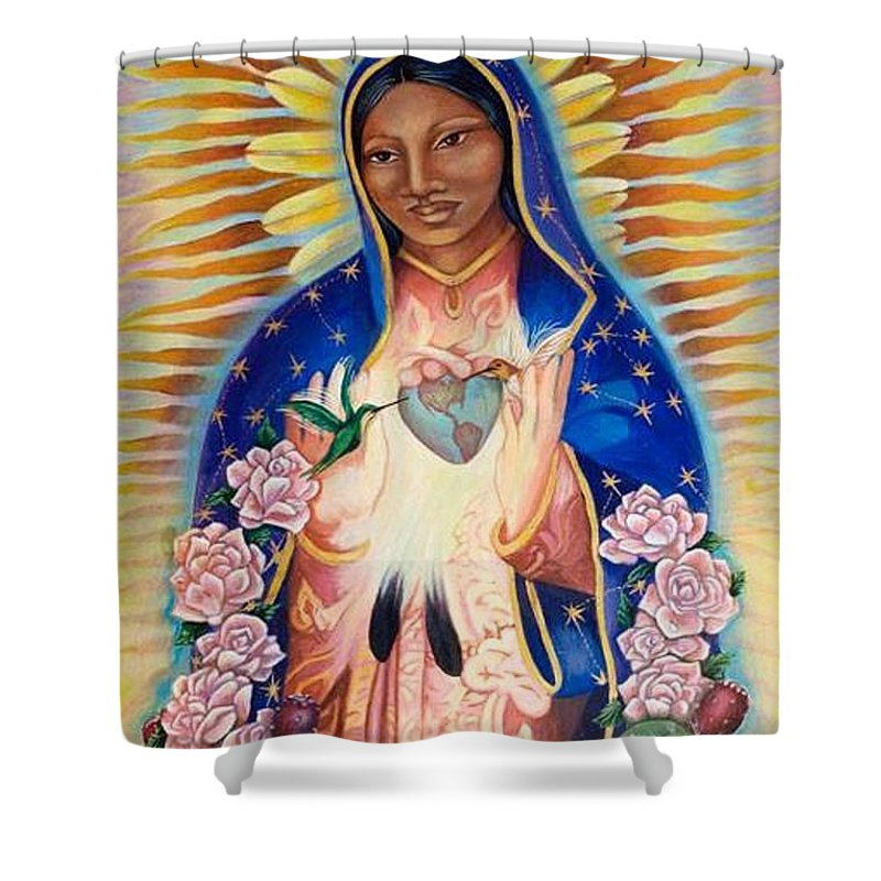 Virgin Mary Our Lady Of Guadalupe Shower Curtain For Sale By Krystal M
