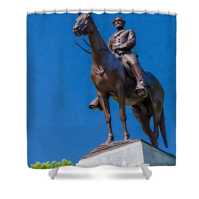 Civil War Shower Curtain featuring the photograph Virginia State Memorial 7d02297 by Guy Whiteley
