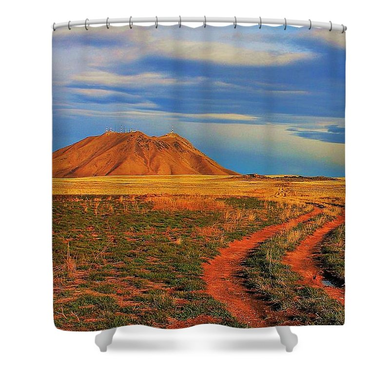 Idaho Shower Curtain featuring the photograph Volcano Road by Benjamin Yeager