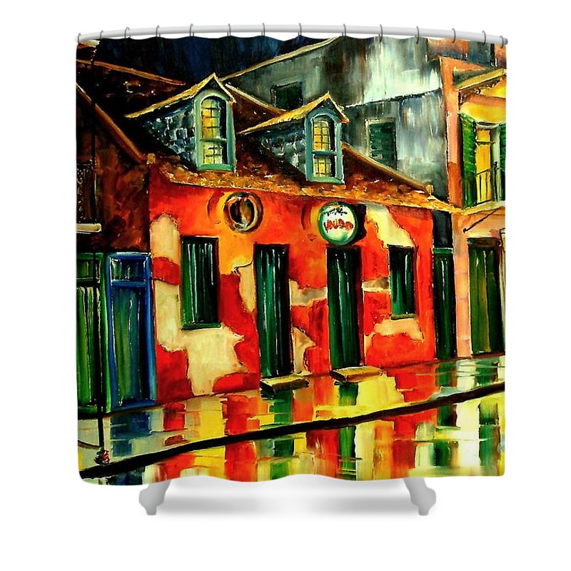 New Orleans Shower Curtain featuring the painting Voodoo Shop by Diane Millsap