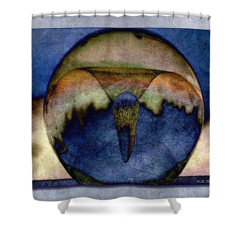 Vortex Shower Curtain featuring the photograph Vortex by WB Johnston