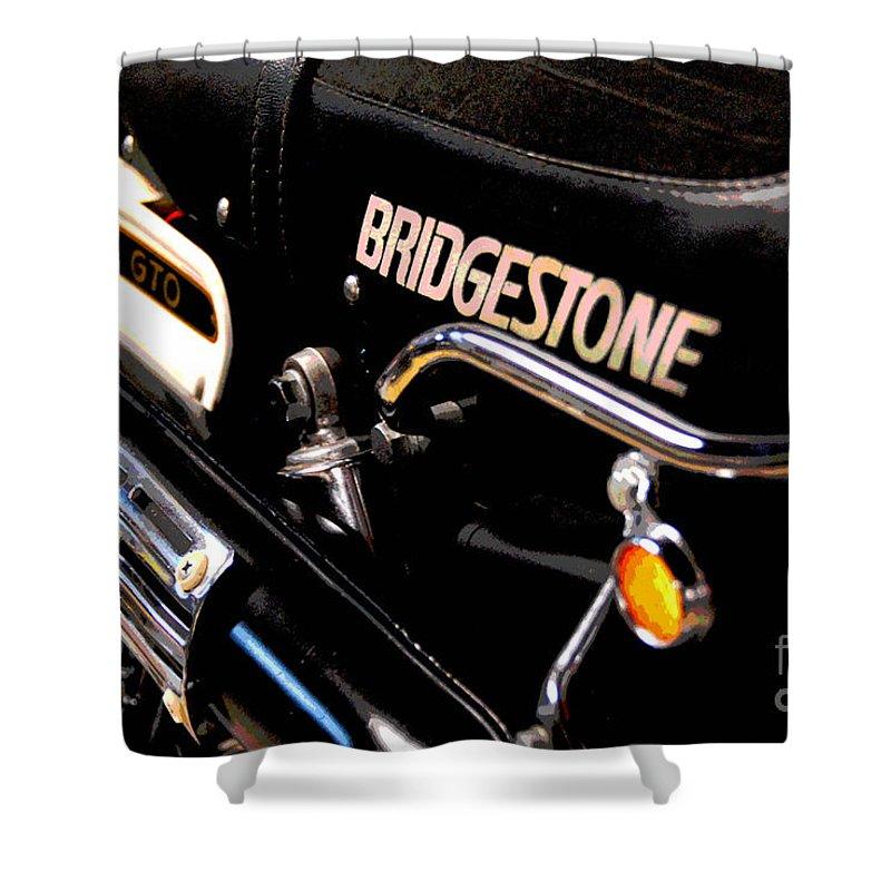 Bridgestone Shower Curtain featuring the photograph Vroommmmmmmmm by Cindy Manero