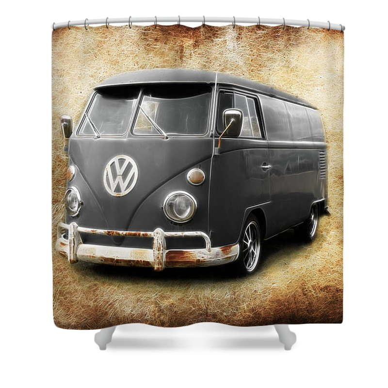 Vw Shower Curtain Featuring The Photograph Old School By Steve McKinzie