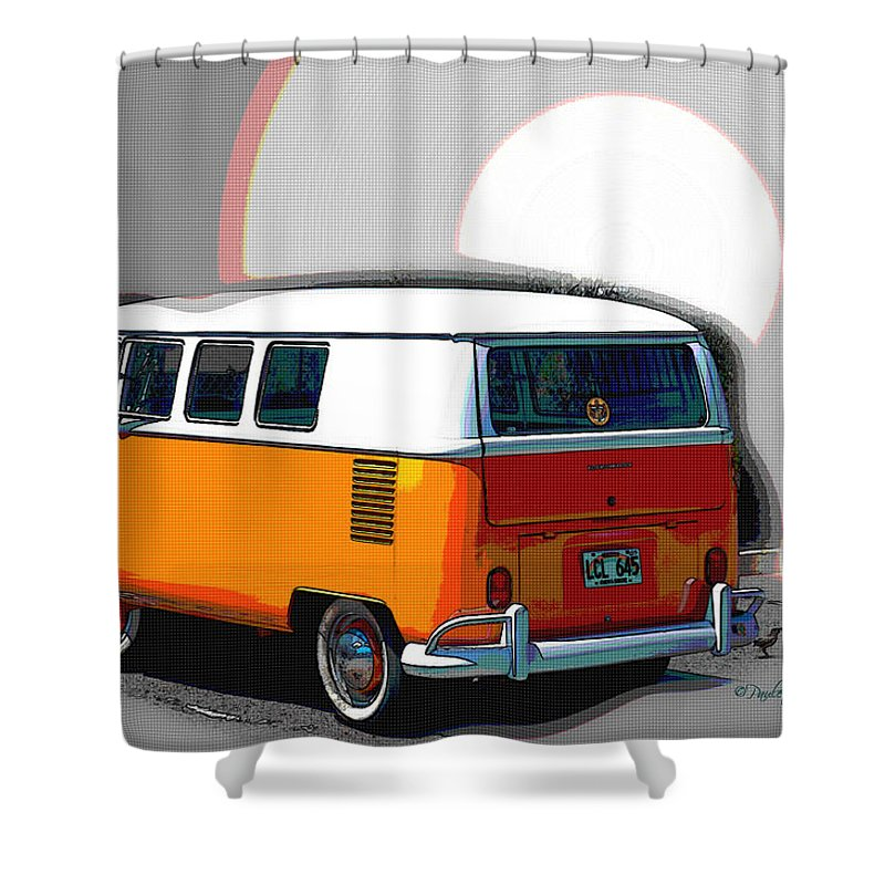 Interior Design Shower Curtain featuring the photograph Vw Wagon by Paulette B Wright