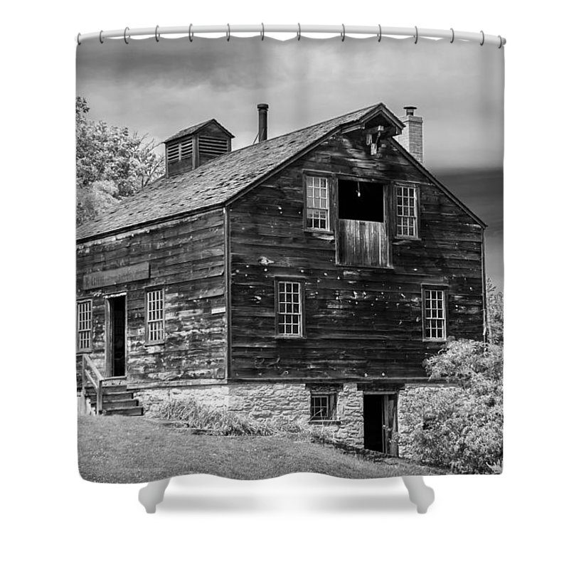 Grieves Brewery Shower Curtain featuring the photograph W Grieve - Brewer Distiller Malster by Guy Whiteley