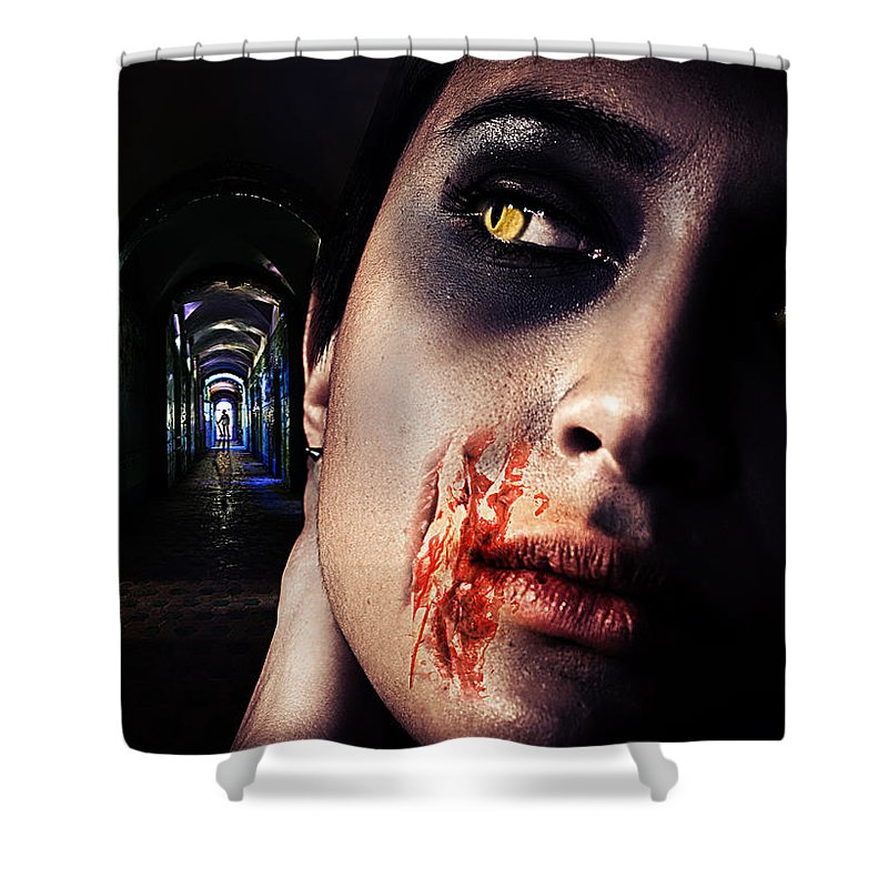 Antique Shower Curtain featuring the digital art Waiting For You by Nathan Wright