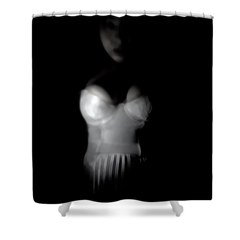 Black Shower Curtain featuring the photograph Waiting by Jessica Shelton