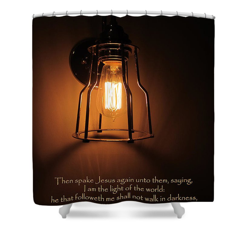 Walk Shower Curtain featuring the photograph Walk In The Light by Kathy Clark