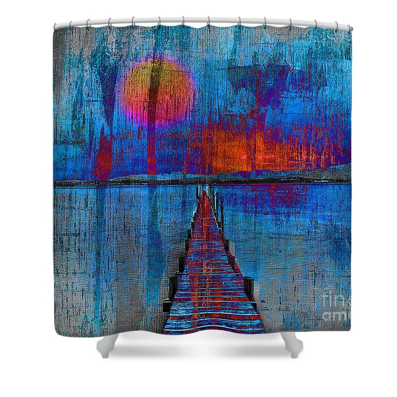 Abstract Shower Curtain featuring the photograph Walk On Water 03 by Edmund Nagele