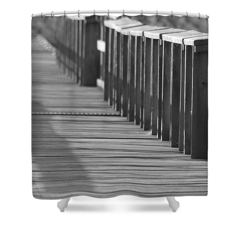 Dock Shower Curtain featuring the photograph Walk To The Dock by IMH Photog