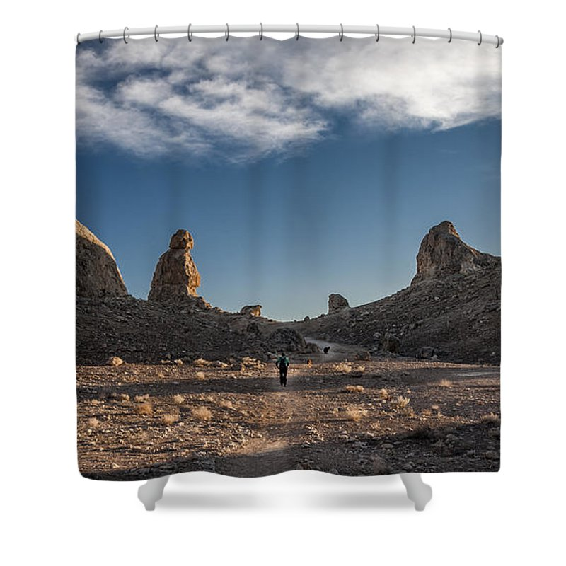 California Shower Curtain featuring the photograph Walking Among Giants by Cat Connor