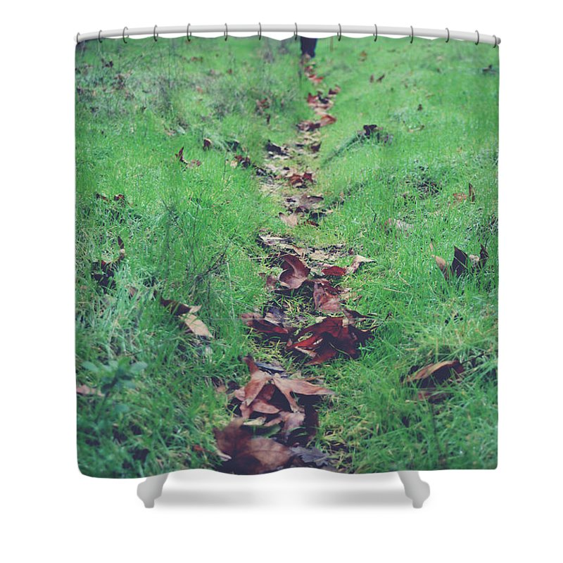 Sunol Ohlone Regional Wilderness Shower Curtain featuring the photograph Walking The Path Less Traveled by Laurie Search