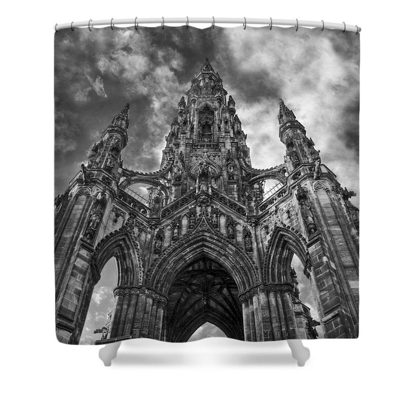 Edinburgh Shower Curtain featuring the photograph Walter Scott Monument by Jason Politte