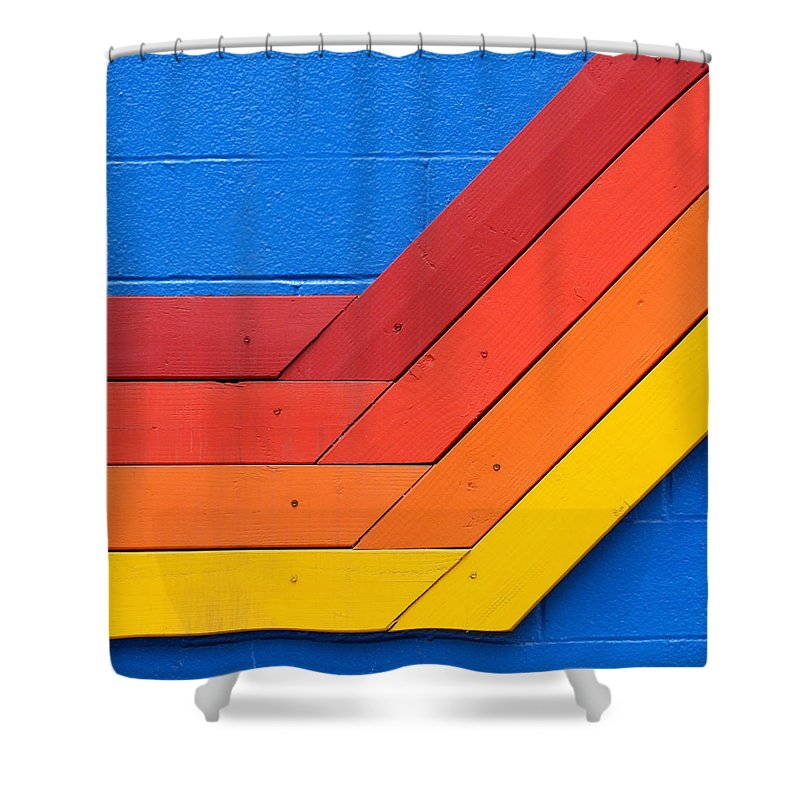 Venice Beach Shower Curtain featuring the photograph Warm On Cool by Art Block Collections