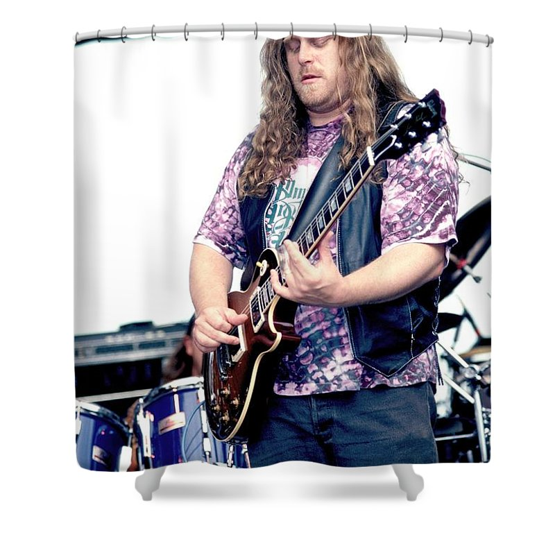 Songwriter Shower Curtain featuring the photograph Warren Haines by Concert Photos