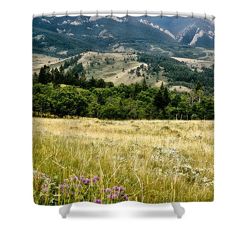 Wilderness Shower Curtain featuring the photograph Washake Wilderness by Kathy McClure
