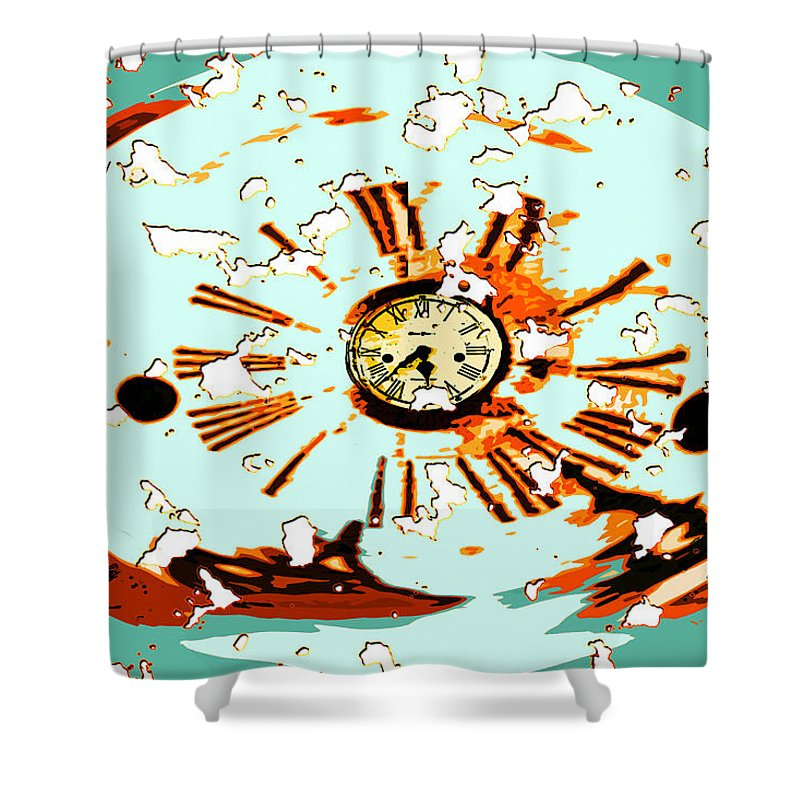 Digital Art Shower Curtain featuring the photograph Wasting Time by Paula Ayers