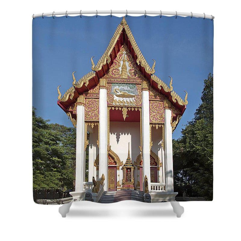 Ubon Ratchathani Shower Curtain featuring the photograph Wat Burapa Ubosot Dthu400 by Gerry Gantt