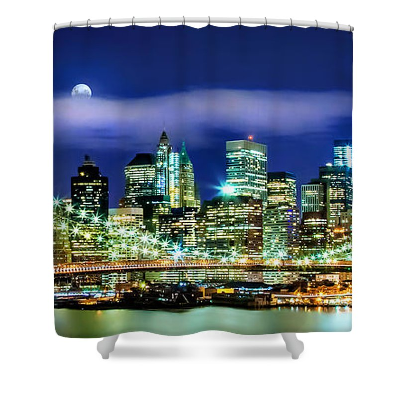 New York City Shower Curtain featuring the photograph Watching Over New York by Az Jackson