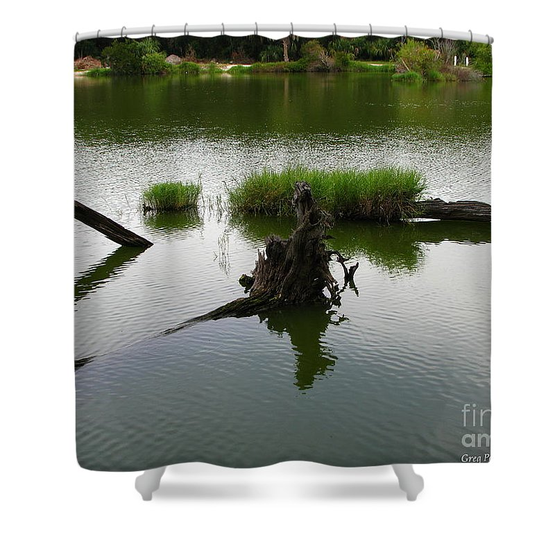 Art For The Wall...patzer Photography Shower Curtain featuring the photograph Water Art by Greg Patzer