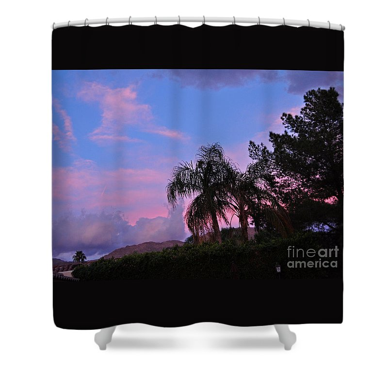 Pink Shower Curtain featuring the photograph Water Colored Sky by Jay Milo