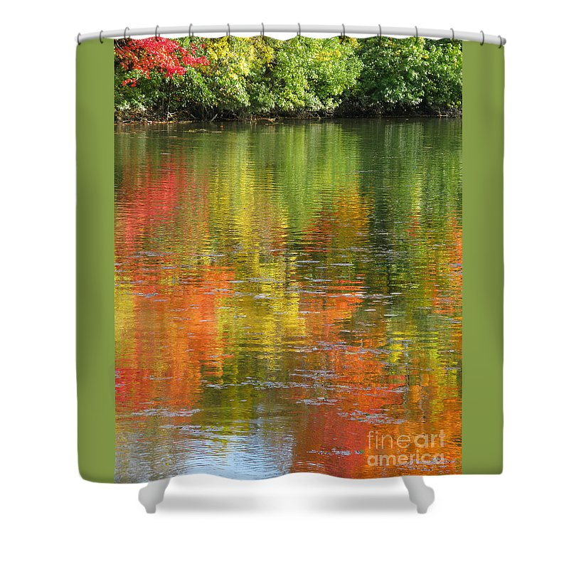 Autumn Shower Curtain featuring the photograph Water Colors by Ann Horn
