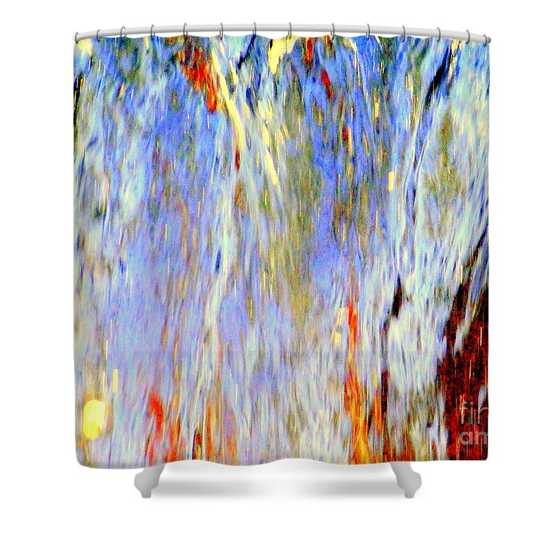 Abstract Shower Curtain featuring the photograph Water Fountain Abstract #30 by Ed Weidman