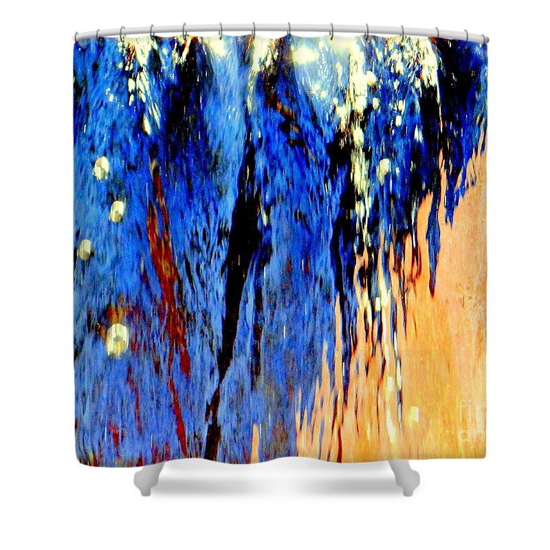 Abstract Shower Curtain featuring the photograph Water Fountain Abstract31 by Ed Weidman