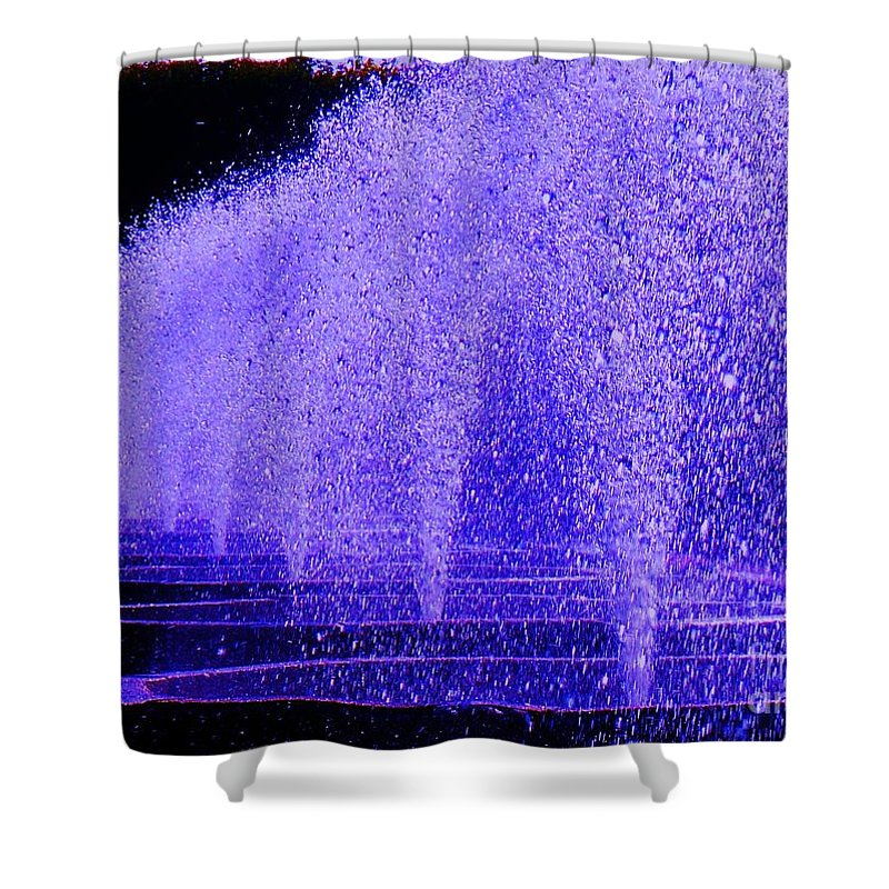 Fountain Shower Curtain featuring the photograph Water Fountain by Eric Schiabor