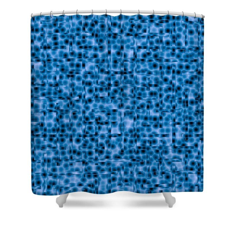 Artmatic Shower Curtain featuring the digital art Water Labyrinth by Hakon Soreide