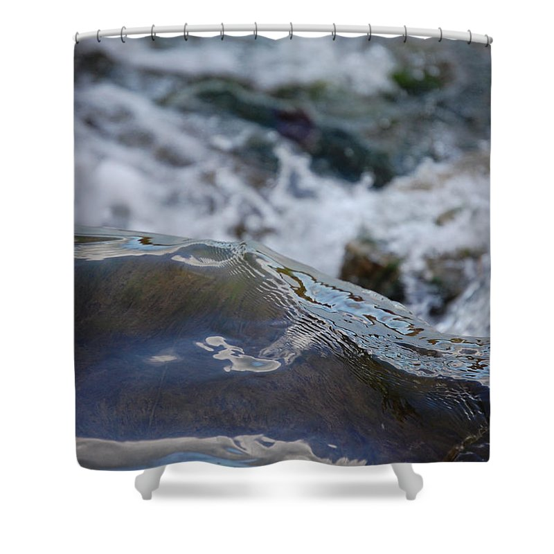 Gray Shower Curtain featuring the photograph Water Mountain 1 By Jrr by First Star Art