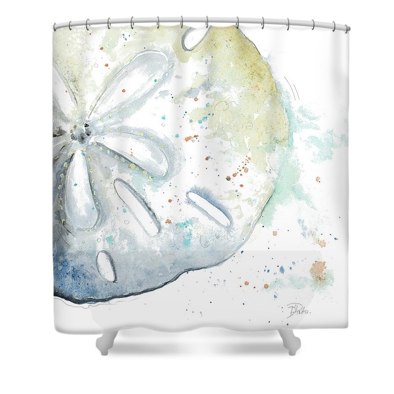Delicieux Water Shower Curtain Featuring The Painting Water Sand Dollar By Patricia  Pinto