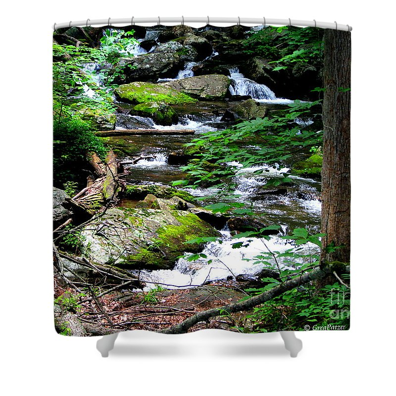 Patzer Shower Curtain featuring the photograph Water Shed by Greg Patzer