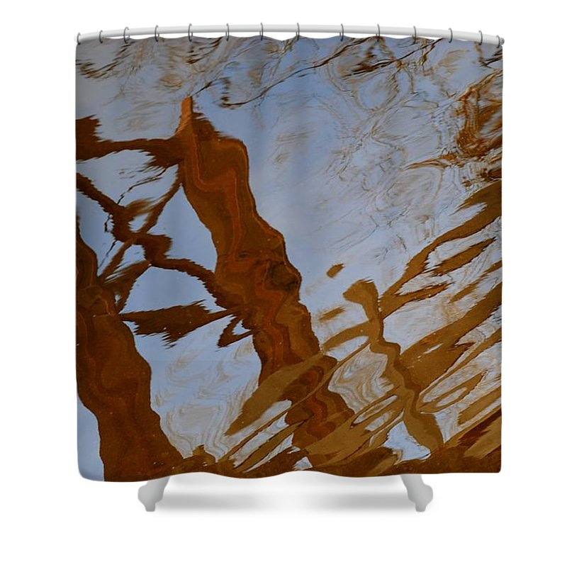 Water Shower Curtain featuring the photograph Water Under The Bridge by Frozen in Time Fine Art Photography