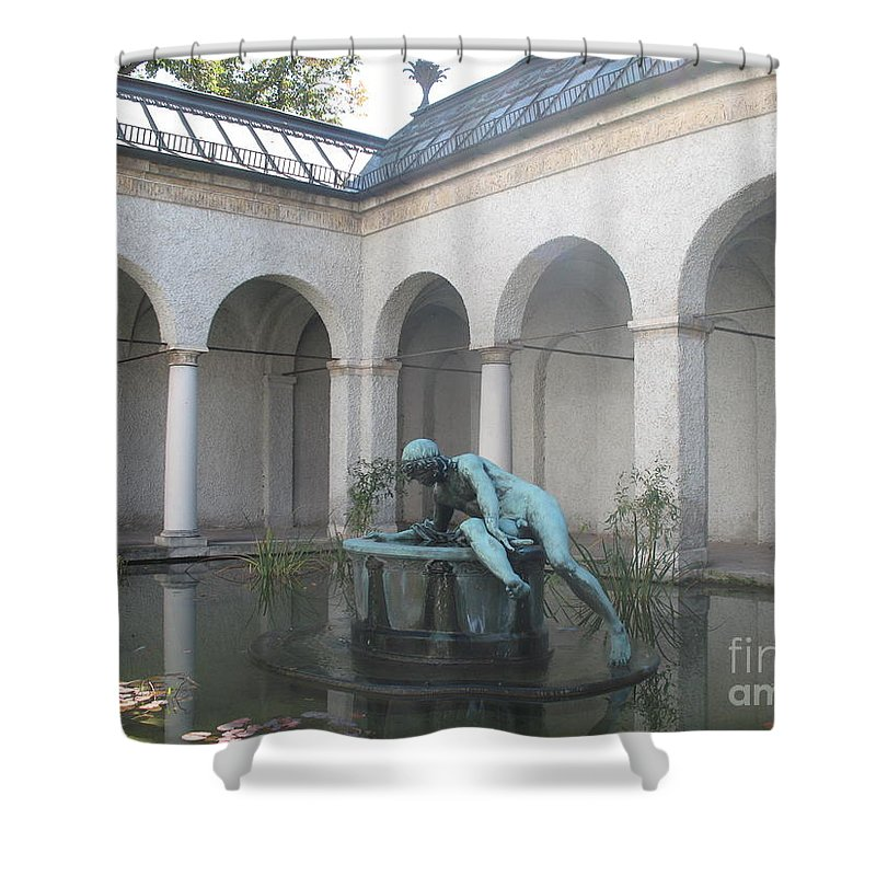 House Shower Curtain featuring the photograph Waterbasin by Christiane Schulze Art And Photography