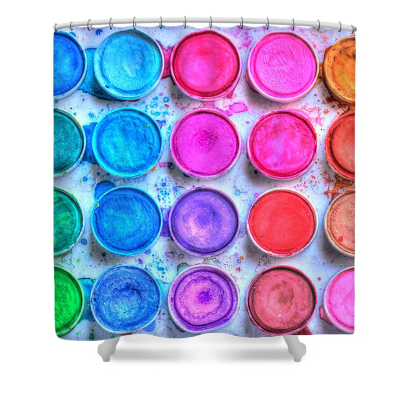 Paint Shower Curtain featuring the photograph Watercolor by Heidi Smith
