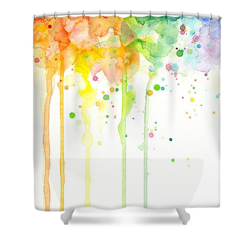 Watercolor Rainbow Shower Curtain for Sale by Olga Shvartsur