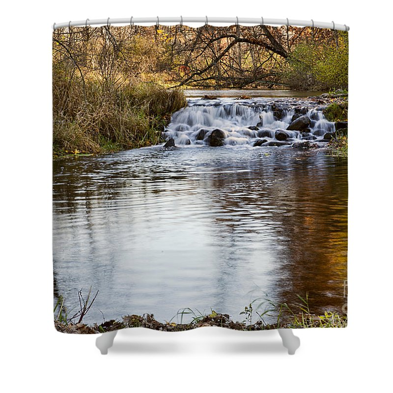 Water Shower Curtain featuring the photograph Waterfall At Bonneyville by David Arment