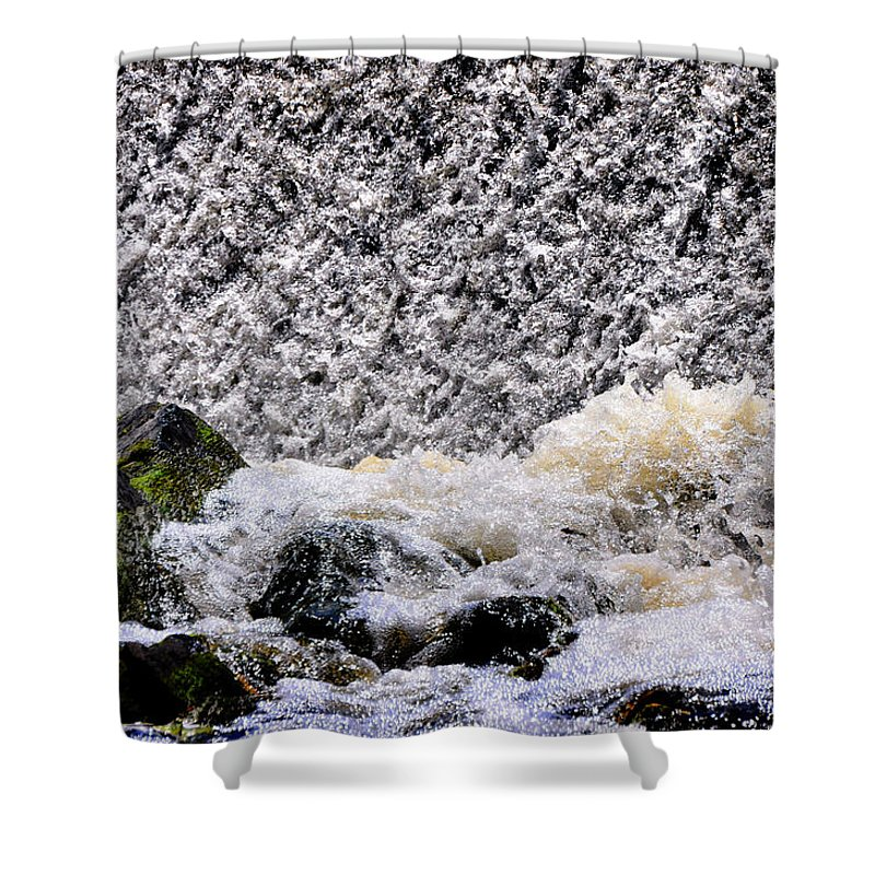 Waterfall Shower Curtain featuring the photograph Waterfall Dance by Mark Valentine