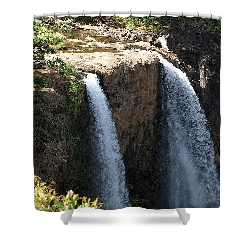 Waterfall Shower Curtain featuring the photograph Waterfall From The Top by Jo Jurkiewicz