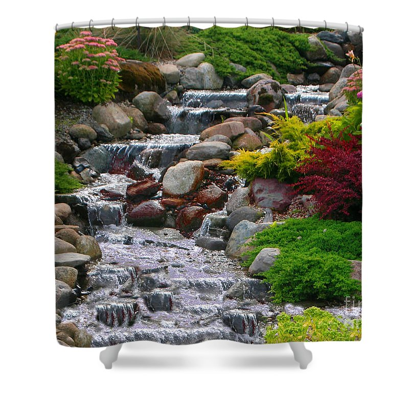 Waterfall Shower Curtain featuring the photograph Waterfall by Tom Prendergast
