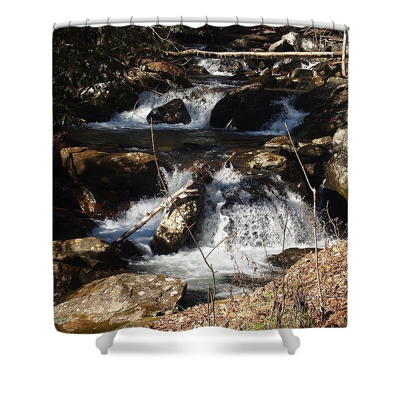 Waterfalls Shower Curtain featuring the photograph Forever Flowing by Jill Rucker Simmons