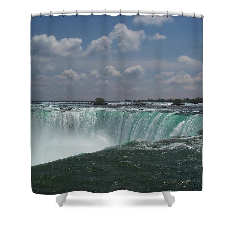 Horseshoe Falls Shower Curtain featuring the photograph Water's Edge by Barbara McDevitt